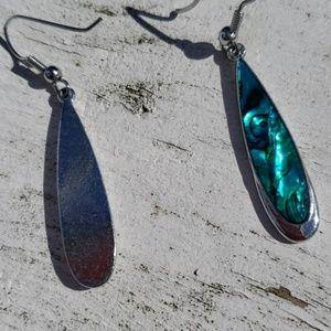 none Jewelry - Blue abalone drop earings + bonus 2 bracelets